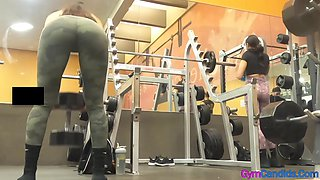 Gym Candid Hot Girls in Tight Leggings with Big Asses