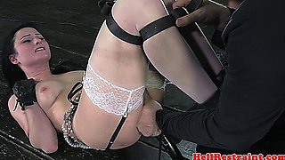 Fetish bdsm sub tied up and punished