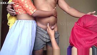 Indian Desi threesome group sex