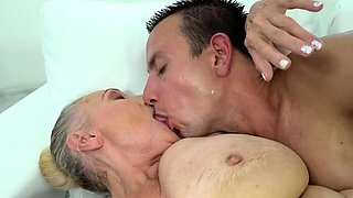 busty granny loves hard dicks