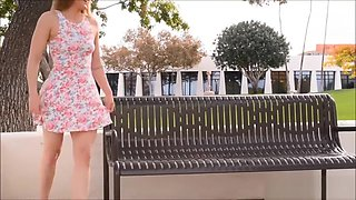 Teen public upskirt and teasing