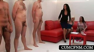 CFNM action with hoes rubbing cocks