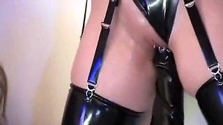 Exotic amateur Lesbian, Latex xxx scene