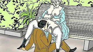 Grannies Annealing! Porn cartoon collection