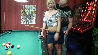 German Mother Nadja Seduce to Fuck by Stranger in Spielothek