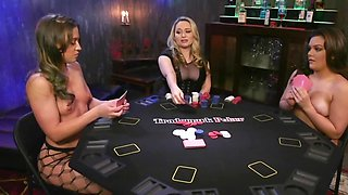 Poker player wins amateur chicks and focuses on their anuses