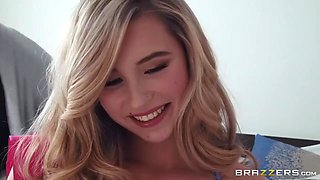 Carolina Sweets And Charles Dera - Horny Daddy Fucks Spoiled Young Blonde In Her Innocent Mouth