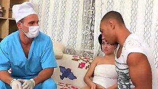 Doctor gazes hymen checkup and virgin kitten shagging