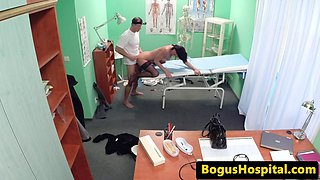 Glamcore babe gets drilled by lucky doctor