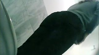 Spy cam in toilet catches woman peeing