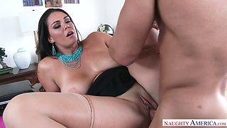 Busty  secretary Alison Tyler fucks her handsome boss