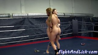 pussylicked euro wrestling a dyke babe