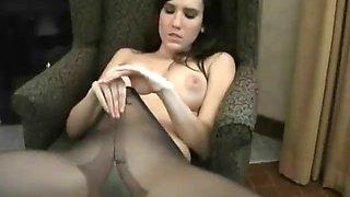 Erin avery sexy black nylon