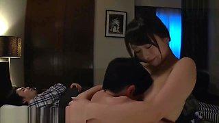 Kohey Nishi sex with stepmother big tits when her husband sleeping
