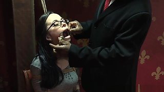Mouth Gaped Sub Dominated In Spread Eagle