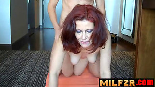 Mommy's yoga lesson end in sex