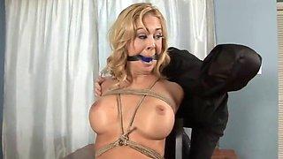 orgasmic interrogation of tied babe