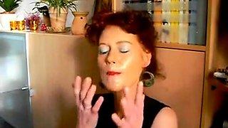 Mature gets a face moisturizer