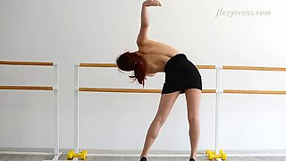 future ballerina zlata shows her skills being completely naked