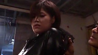Amazing Japanese whore Azusa Itagaki in Crazy Latex, Gangbang JAV clip