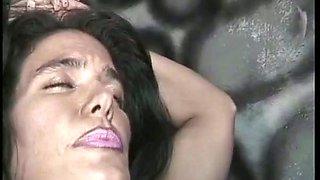 Kinky brunette mistress teaches her nasty slave girl
