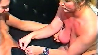 Curvy and busty white German milf shows her pussy on cam