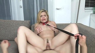 Bambino dominates horny stepmom Blaten while she wore a collar