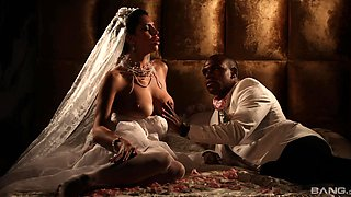 Erotic interracial lovemaking with cock hungry wife Kira Queen