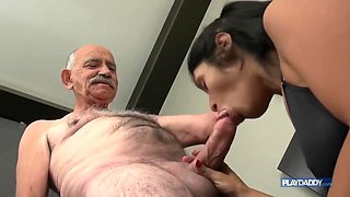 An old man in great shape for a Latin girl