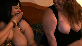 Nasty mistress ties up her slave and gives him a handjob