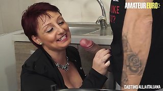 Big Boobs Mature Housewife First Rough Anal Audition - Omar Galanti