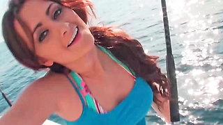 Cutie has a very fun time on the boat with her lover