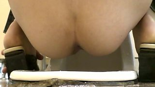 Pissing voyeur scenes of amateur pussies above toilet