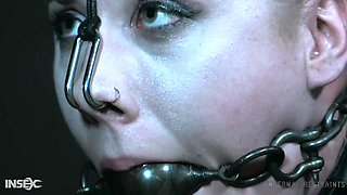 Gagged and fixed in extreme way during BDSM Lex Luthor gets treated right
