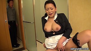 Japanese maid, rei kitajima was caught masturbating at work