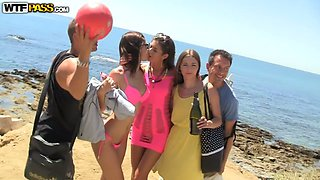 Real sex party on the sunny beach 2. Part 3