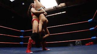 Eva wrestling
