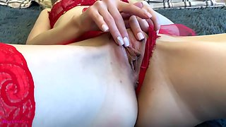 Hard Fuck Of A Cute Blonde With An Ending In Her Pussy