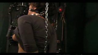Sexy slave Anna in bondage