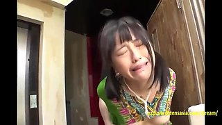 jav idols paraded for sex then hazuki gets rough gangbang