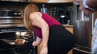 Busty Latina MILF Juliett Russo fucked in the kitchen