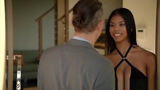 18 year old Ebony beauty Nia wants a piece of her friend's dad