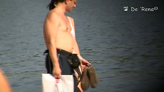 Real amateur milfs beach voyeur vid
