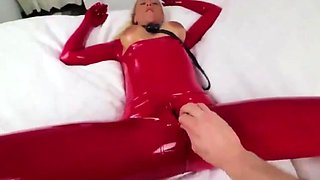 Extremely perverse hardcore training for latex sex whore!