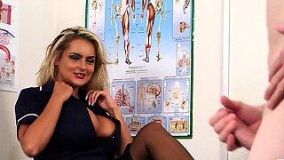 Ample UK nurse enjoys teasing her JOI subject