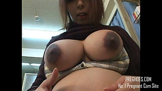Pregnant Asian Student  - More at PregHoes.com