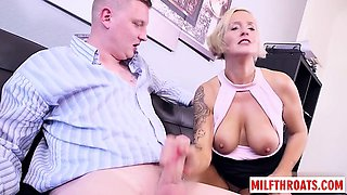 German milf threesome with cumshot