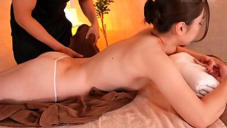 Alluring Japanese babe gets sensually massaged and fucked