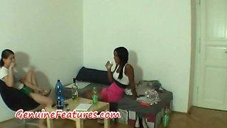 Beautiful ebony at the erotic casting
