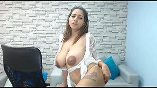 NILEY STRIPS, SUCK HER NIPPLES, SPRINKLE HER MILK ON TABLE